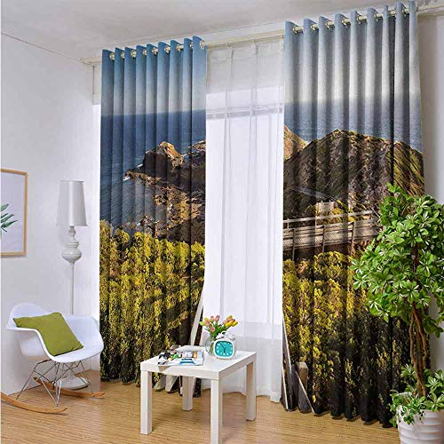Curtain for Patio Sliding Door Energy Efficiency Draperies for Double Window 96
