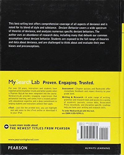 Deviant Behavior (11th Edition)