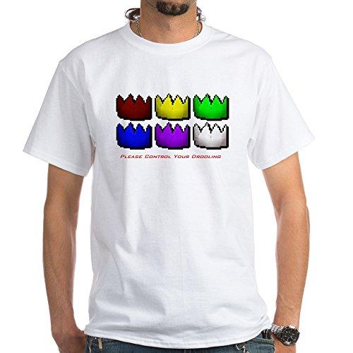 CafePress Party Hat White T-Shirt - 100% Cotton T-Shirt, White (Runescape Party Hat)
