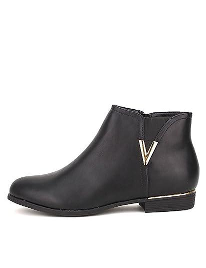 ebefdff07d1ae Cendriyon, Bottine Noire Mode V Doré Chaussures Femme Taille 44 ...