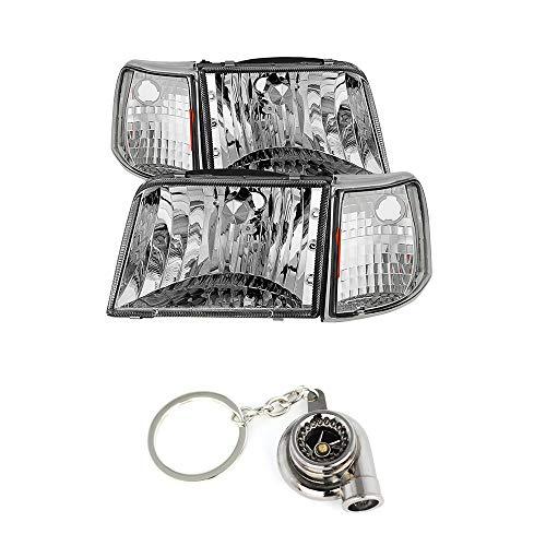 for Ranger 93-97 Crystal Headlights With Corner Lights 4pcs sets