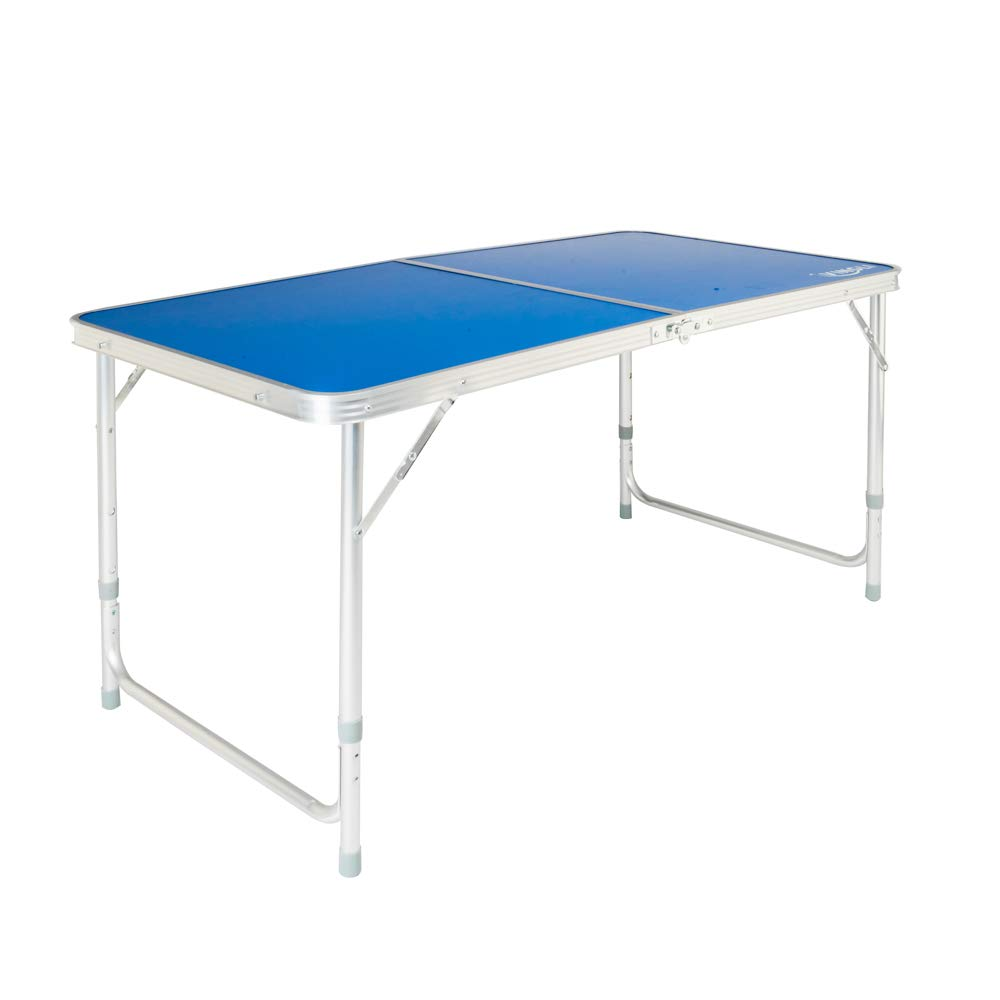 VINGLI Folding Picnic Table with Aluminum Legs, 3 Adjustable Height,47.2 L x 23.6 W for Camping Party BBQ,Portable Utility Outdoor Tables with Carrying Handle, Foldable Desk