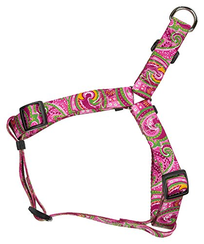 Image of Country Brook Design Pink Paisley Step-in Dog Harness - Large