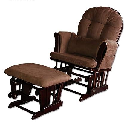 Superb Glider Rocking Nursing Recliner Maternity Chair Foot Stool Ncnpc Chair Design For Home Ncnpcorg