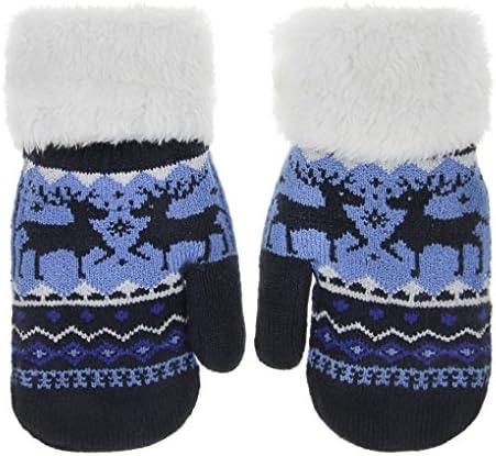 YSXY Unisex Kinder Handschuhe Plüsch Fäustlinge Warme Winter Fausthandschuhe Strickhandschuhe für Klienkind Mädchen und Jungen