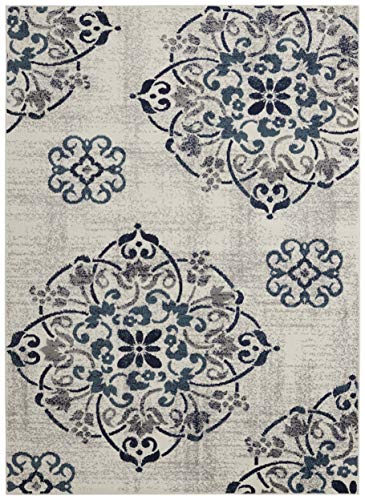(( 8' x 10' Area Rug ) Diagona Designs Contemporary Floral Medallion Design Area Rug, 94