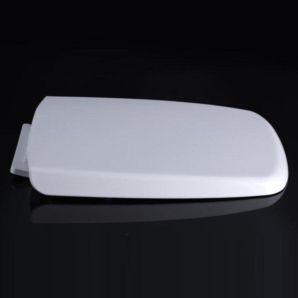 S-graceful Asiento De Inodoro Universal Tapa del V/áTer con Cubierta De Inodoro Mute Antibacterial PP para Inodoro Cuadrado,White-44-47 36.5cm