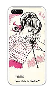 Vintage Retro Teen Barbie iPhone 4 / 4S Hard Case - White -