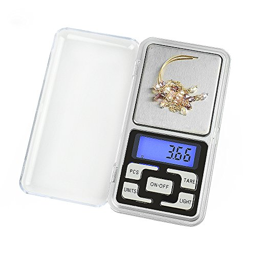 High Accuracy Mini Electronic Digital Pocket Scale Jewelry Diamond Gold Coin Calibration Weighing Balance Portable 500G/0.01G Counting Function Blue LCD by Simerst (Image #5)