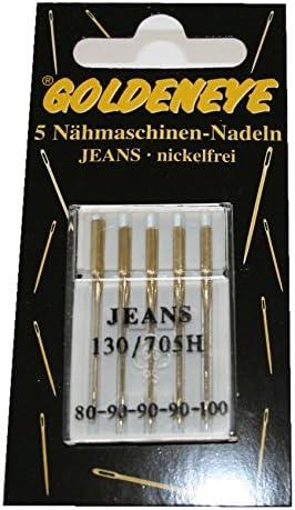 5 pcs Agujas para máquinas de coser Jeans plana soldador sin ...