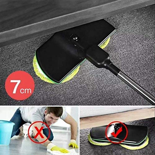 ADAHX Electric Spinning Mop,Cordless 360 Degree Mopping Machine Rechargeable, Wireless Electric Rotary Cleaninghand-held, Powered Floor Cleaner Scrubber Polisher Mop,Black by ADAHX (Image #4)