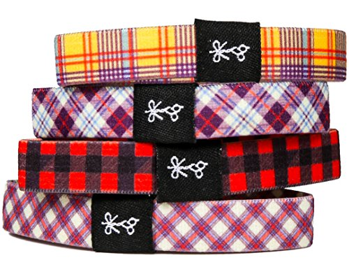 Hair Ties For Guys | Superior, No-Rip, No-Slip Hair Ties for All Hair Types (The Good Plaid & Flannel)