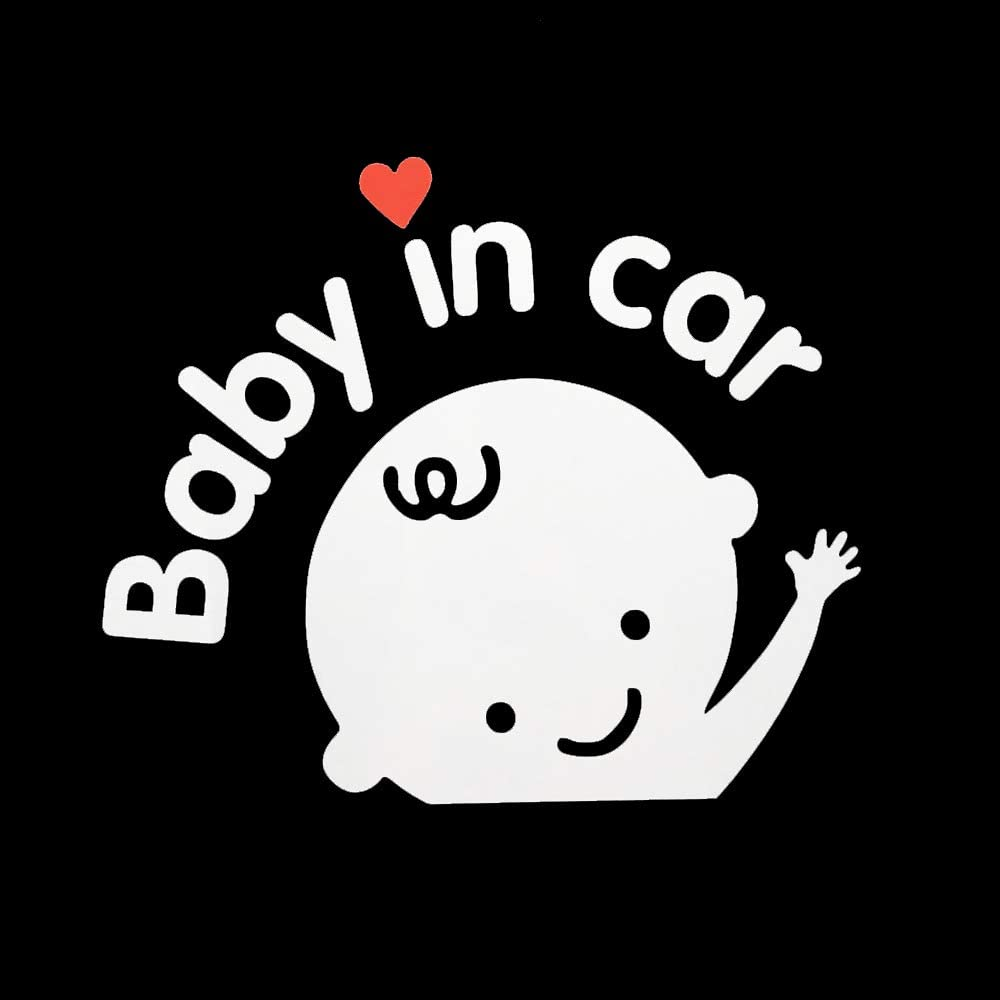 1-Pack Boy Aaron White Baby in Car Baby Safety Sign Car Sticker Car Decal Sticker