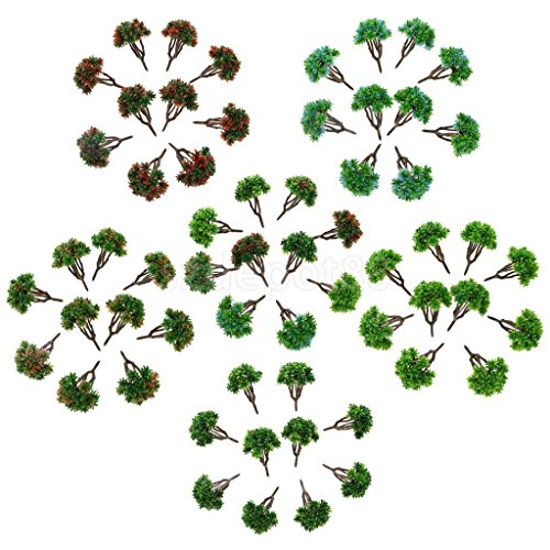 60pcs 1:150 DIY Model Train Trees Scenery Building Park Garden 7cm/2.75inch by uptogethertek