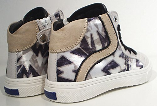 Walk Safari High Top Leder Sneaker beige creme schwarz