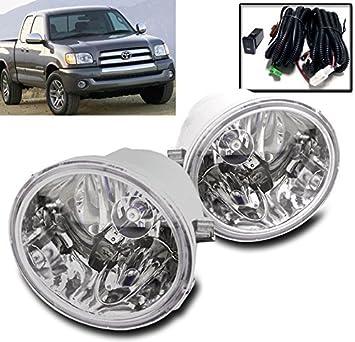 For Toyota Sequoia Tundra Clear Lens Chrome Housing Fog Light Lamp Complete Kit