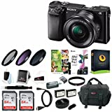 Sony Alpha a6000 Camera w/Lens, Accessory, and Software Bundle (Graphite)