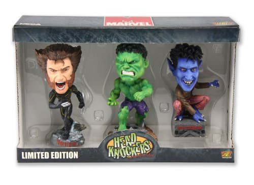 Mini Head Knocker (Marvel Mini Head Knocker 3pack Wolverine, Hulk and Nightcrawler by NECA)