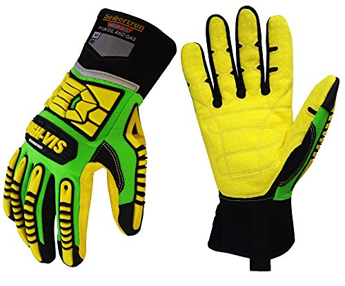 Seibertron HIGH-VIS SDXC5 Mechanics Cut5 Impact Cut Puncture Resistant Gloves Oil and Gas/Oilfield Safety Gloves CE EN388 4543 M
