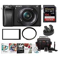 Sony a6300 Mirrorles Digital Camera w/ 16-50mm f/3.5-5.6 Lens & 64GB SD Card Bundle