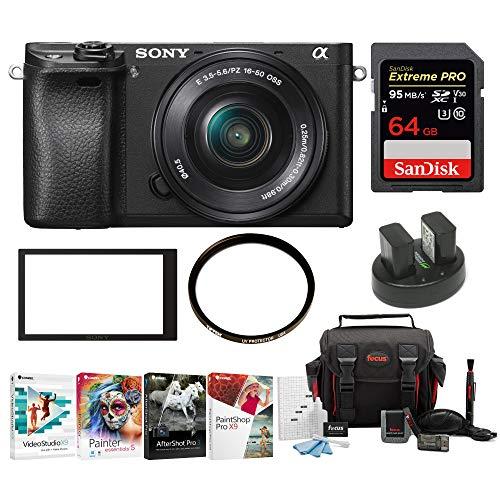 Cheap Sony a6300 Mirrorles Digital Camera w/ 16-50mm f/3.5-5.6 Lens & 64GB SD Card Bundle