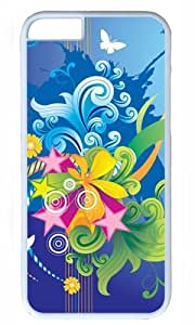 Abstract colorful flower art Thanksgiving Halloween Masterpiece Limited Design PC White Case for iphone 6 pluse by Cases & Mousepads