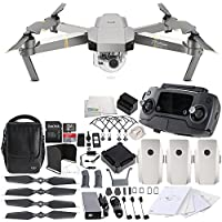 DJI Mavic Pro Platinum Fly More Combo Collapsible Quadcopter EVERYTHING YOU NEED Ultimate Bundle