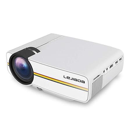 LULUKEKE Proyector, YG410 Mini proyector, Pantalla de ...