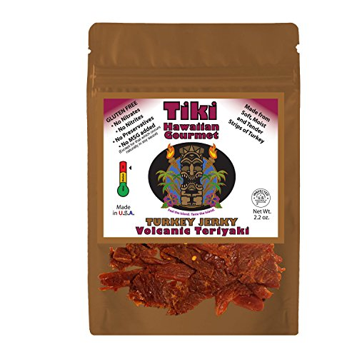 Tiki Hawaiian Gourmet Jerky | Volcanic Teriyaki (Turkey Teriyaki Marinade)