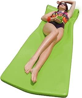 "product image for Texas Recreation Kool Float 1.75"" Thick Swimming Pool Foam Pool Floating Mattress with Bonus Kool Kan, Lime"