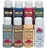 """Apple Barrel 17854 Non-Toxic Multi-Purpose Acrylic Paint Set, 2 oz. Bottle, Assorted Color, 2"""" Height, 6.25"""" Width, 11.25"""" Length (Pack of 8)"""