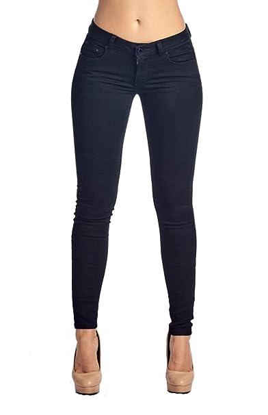 e7b5a984e4140 2LUV Women's Stretchy 5 Pocket Skinny Color Uniform Pants Black 15 (MLP1060)