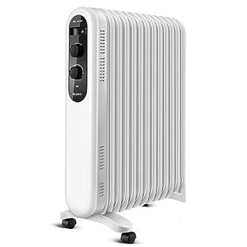 MSNDIAN Calentadores eléctricos de aceite, ahorro de energía en el hogar, calentamiento rápido,