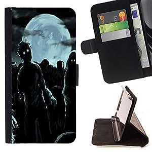 Dragon Case - FOR Samsung Galaxy A3 - Midnight ghost out - Caja de la carpeta del caso en folio de cuero del tir¨®n de la cubierta protectora Shell