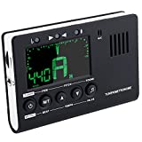 Instrument Tuner, 3 in 1 Metronome, Digital Tuner, Tone Generator for Guitar, Bass, Violin, Ukulele, Battary Included
