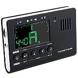 Instrument Tuner, 3 in 1 Metronome, Digital Tuner, Tone Generator for Guitar, Bass, Violin, Ukulele, Battary Included
