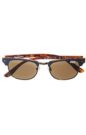 8463547fcfa1c9 Superdry SDR Leo Sunglasses - Navy/Tort at Amazon Men's Clothing store: