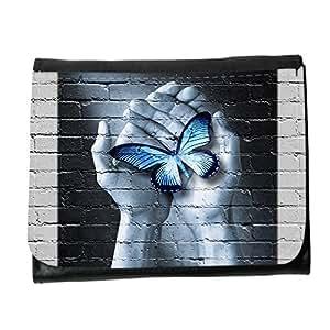 le portefeuille de grands luxe femmes avec beaucoup de compartiments // V00002368 Psicología Cuidado de la mariposa del // Small Size Wallet