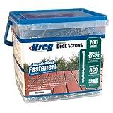 KREG SDK-C2SS-700 2-Inch No.8 Coarse, Stainless Steel Deck Screw, 700 Count