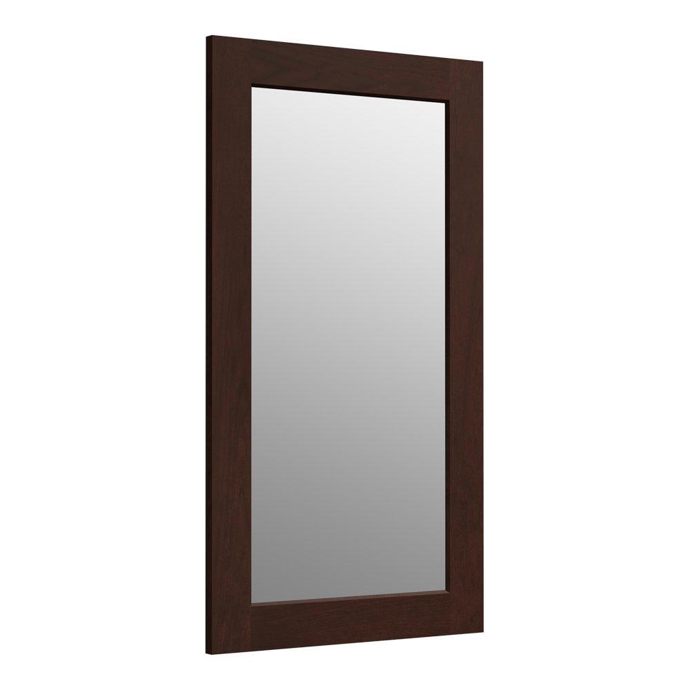 new KOHLER K-99666-1WG Poplin 35.5-Inch x 20.5-Inch Rectangular Framed Mirror,  Cherry Tweed
