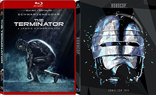 RoboCop Comic Con Edition + The Terminator Red Case Blu Ray Sci-Fi classic Double Feature Movie Set