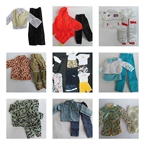 Vêtements Poupée Ken Action Man GI Joe Style Décontracté Militaire Sélection Aléatoire Par Fat-catz-copy-catz x 5