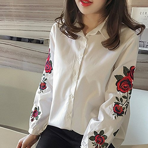 7e104c811285cf Image Unavailable. Image not available for. Color: Women Long Sleeves Shirts  Summer Korean Style ...