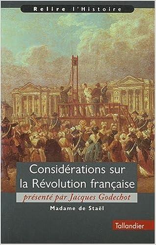 Livres gratuits Considérations sur la révolution française pdf, epub