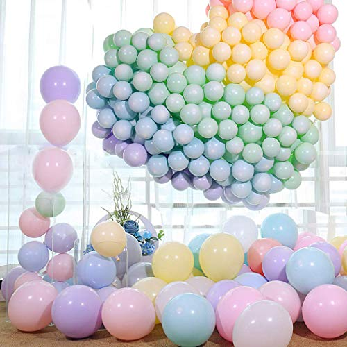 LAKIND 100pcs Pastel Latex Balloons 10 Inches Assorted Macaron Candy Colored Latex Party Balloons for Wedding Graduation Kids Birthday Party Christmas Baby Shower Party Supplies Arch Balloon Tower