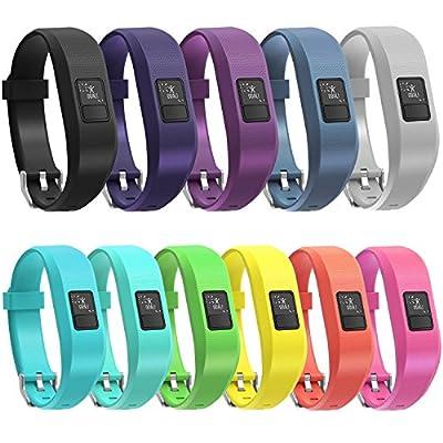 SnowCinda 11 Colors Garmin Vivofit 3 Vivofit JR Bands with Secure Watch Clasp Silicone Replacement Bands for Garmin Vivofit 3 JR