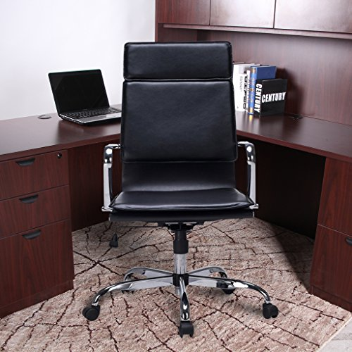 Bonded Leather Office Task Chair Modern High Back With Cushioned Seating  VIVA OFFICE