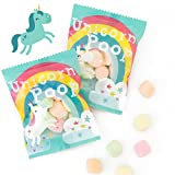 Unicorn Poop Candy - MADE IN THE USA – 24 Party Supplies Bags Favors for Kids - Marshmallows Bulk Treat Packs - Lularoe