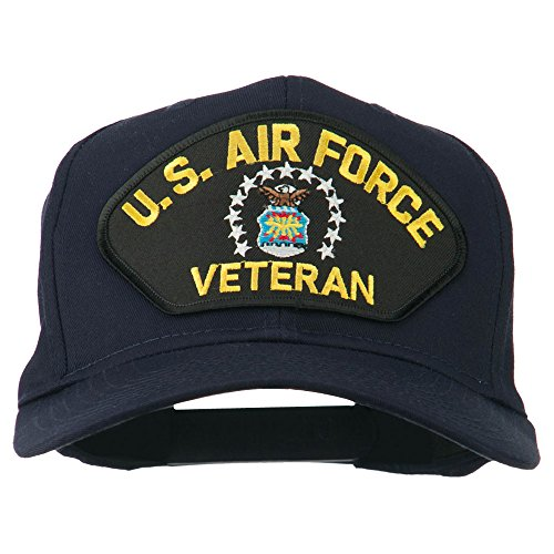 - e4Hats.com US Air Force Veteran Military Patch Cap - Navy OSFM