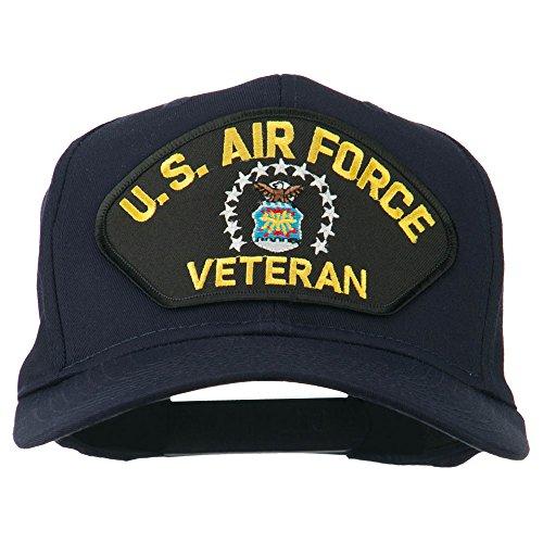 e4Hats.com US Air Force Veteran Military Patch Cap - Navy OSFM